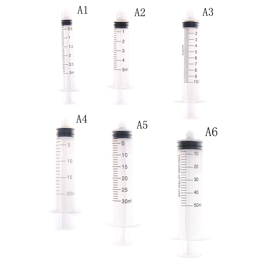 3/5/10/20/30/50ml Reusable Small Hydroponics Plastic Nutrient Sterile Health Measuring Syringe Tools Cat Feeding Accessories
