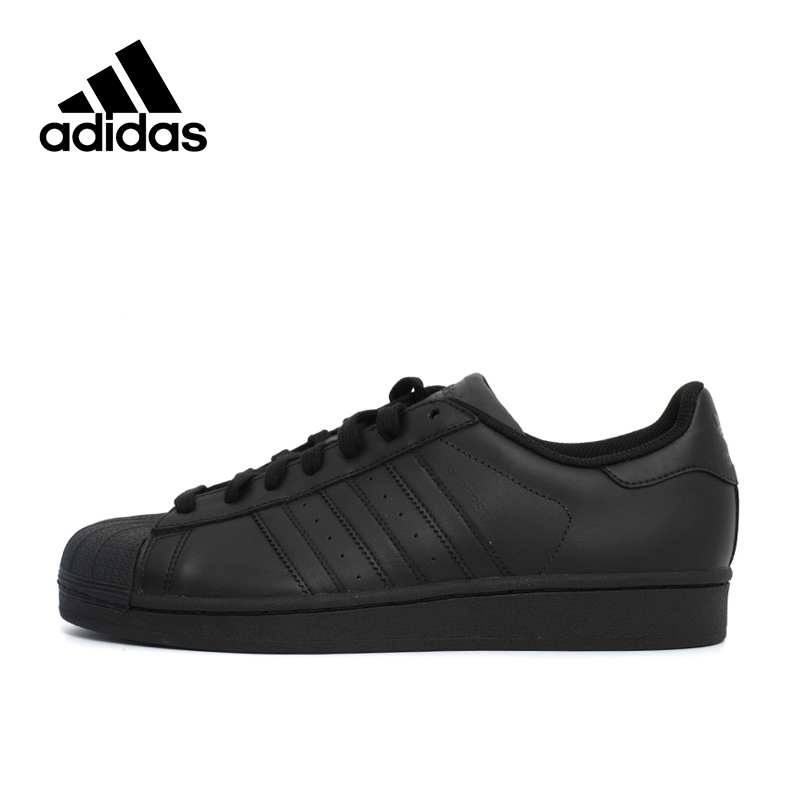Adidas New Arrival Authentic Originals SUPERSTAR Black Hard-Wearing Men's nd Women's Skateboarding shoes Sports Sneakers AF5666 adidas originals superstar foundation c shoe little kid