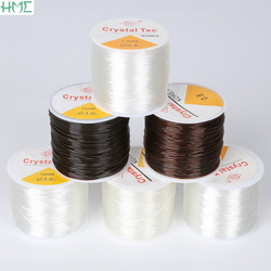 0.5/0.6/0.8/1.0mm Round Elastic Cords Transparent Brown Crystal Beading Cord String Line for Necklace Bracelets Jewelry Making