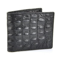 Men Vintage Genuine Leather Short Wallet Crocodile Bifold Credit Card Holder Classic Pocket Alligator Classic Retro