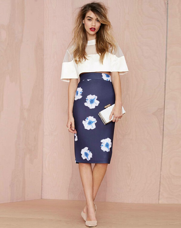 Aliexpress.com : Buy 2015 Summer Style Pencil Skirts Women Flower ...