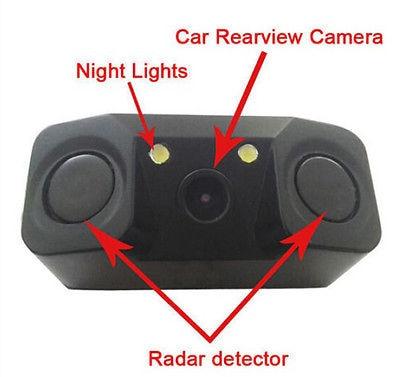 3 en 1 cámara de vista trasera del coche + 2 sensores - Electrónica del Automóvil - foto 2