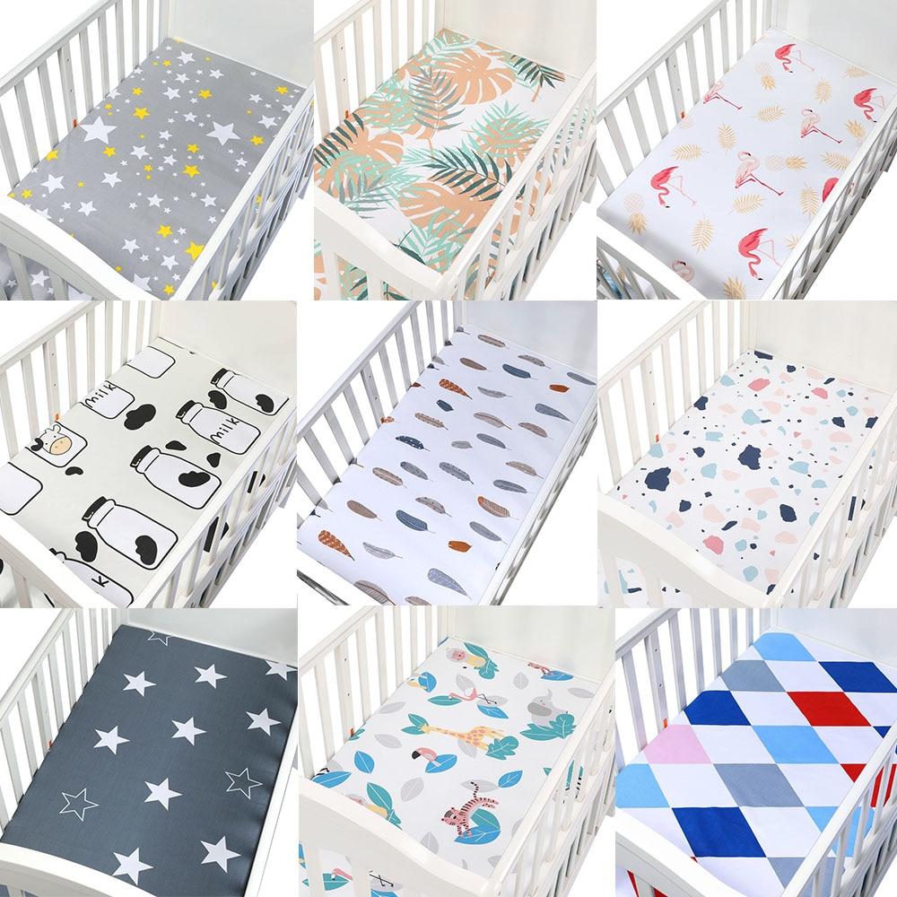 Dinosaur Print 100/% Cotton Soft Mattress Sheet for Baby Boy 8 Fitted Crib Sheet