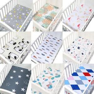 130 سنتيمتر * 70 سنتيمتر 100% القطن ملاءات سرير مزودة لينة الطفل فراش (مرتبة) السرير يغطي مطبوعة الوليد الرضع طقم سرير الاطفال البسيطة المهد ورقة