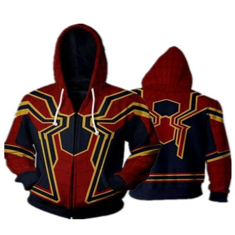 3color Spiderman Sweatshirts cosplay costume Hoodies Anime 3D hoodies Men Women Hoodies Street Wear Casual Pockets in Movie TV costumes from Novelty Special Use