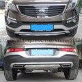 2011-2015 KIA Sportager Высокое качество пластика ABS Chrome Фронт + Задний бампер крышка отделка, стайлинга Автомобилей