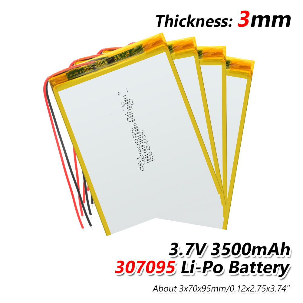 YCDC 2 Wire 307095 Li-polymer Battery.3.7V 3500mah Polymer Lithium Ion Battery Li-ion Battery For Tablet Pc 7 Inch MP3 MP4 GPS