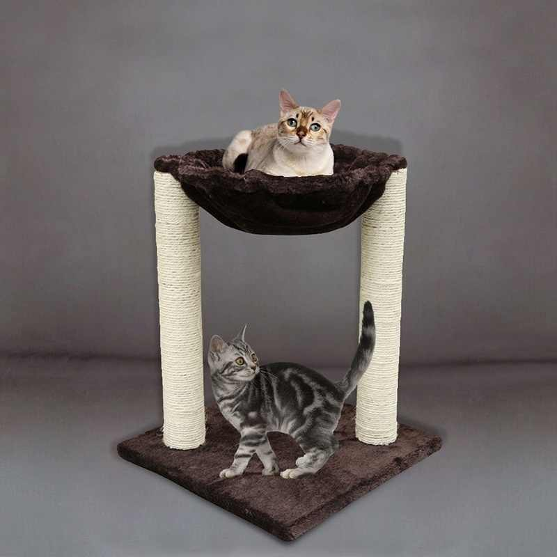 """20""""  Scratching Post Cat Tree Furniture with Hammock Bed Domestic Delivery Cat Toy Scratching Wood Climbing Tree 918"""