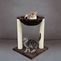 20 Scratching Post Cat Tree Furniture with Hammock Bed Domestic Delivery Cat Toy Scratching Wood Climbing Tree 918