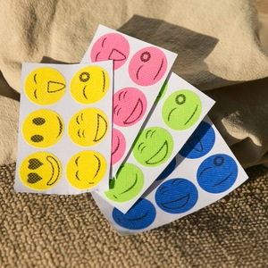Image 4 - 60Pcs Portable Mosquito Stickers Anti Mosquito Insect Repellent Stickers Patches Smiling Face Mosquito Killer Random Color