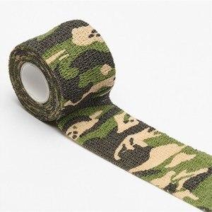 Image 3 - 2.5Cm 15Cm Outdoor Tape Tattoo Tape Waterdichte Wrap Duurzame Non Woven Zelfklevende Elastische Bandage tattoo Accessoires