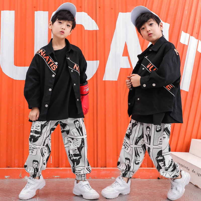 Stage Competition Korean Style Jazz Hiphop Dance Costume Hip Hop Clothes Children Pop Street Dance Wear Suit for Kids Boys Girls-in Clothing Sets ...