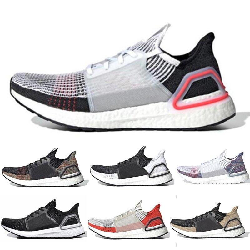 2019 Ultra Boost 19 hommes femmes chaussures de course Ultraboost 5.0 Laser rouge foncé Pixel Core noir pas cher formateur Sport Sneaker
