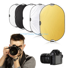 5 in 1 Photography Studio Multi Photo Disc Collapsible Light Reflector 60x90cm##High Quality##