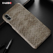 цена на IMIDO Abstract Leather PU Case For iPhone XS MAX Case Vintage Skin Pattern Back Cover For iPhone X XR 8 7 6 6S Plus Coque Fundas