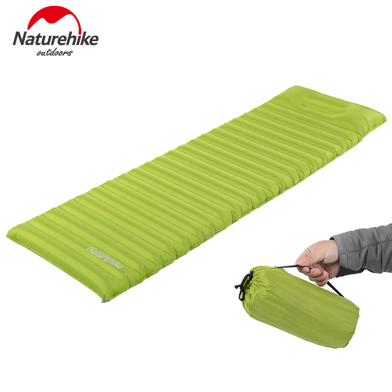Naturehike Inflatable Airbed Tent Air Mat With Pillow Camping Moisture-proof Pad Folating Beach Mattress NH16D003-D