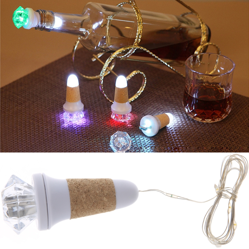 Wine Bottle Lights USB Rechargeable 7 Color LED Cork Lights For Christmas Party New