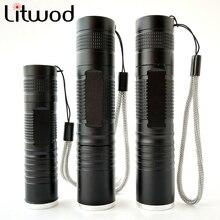Z10S5 Litwod XML L2 T6 Q5 Led Flashlight Zoomable Waterproof