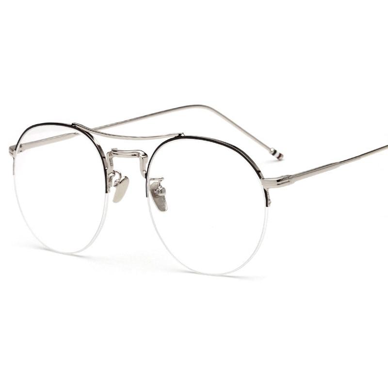 2017 Newest Round Optical Frame Fashion Half frames Art ...