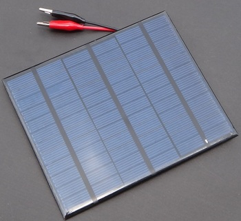 3.5Watt Solar Charger For 12V Car/Boat etc Battery Charging 3.5W 18V Solar Panels With Crocodile Clips 10pcs/lot Free Shipping