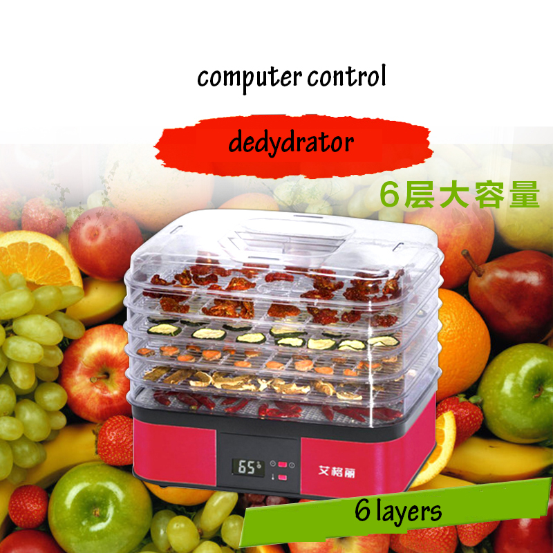 Computer-controlled Home Food Dryer Machine 6 Layer Design Fruit Vegetable Dehydrator 360-degree Cycle Drying Dryer Drying Tool