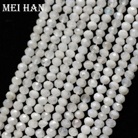 Natuurlijke 3*4mm Maansteen facet rondelle losse kralen stone voor sieraden maken ontwerp mode steen DIY armband ketting