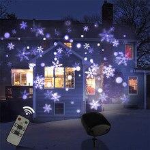 Queda de Neve ao ar livre Projetor Laser Lâmpada IP65 Movendo Jardim de Natal de Ano Novo Do Floco De Neve Do Laser À Prova D Água Luz LED Luz de Palco