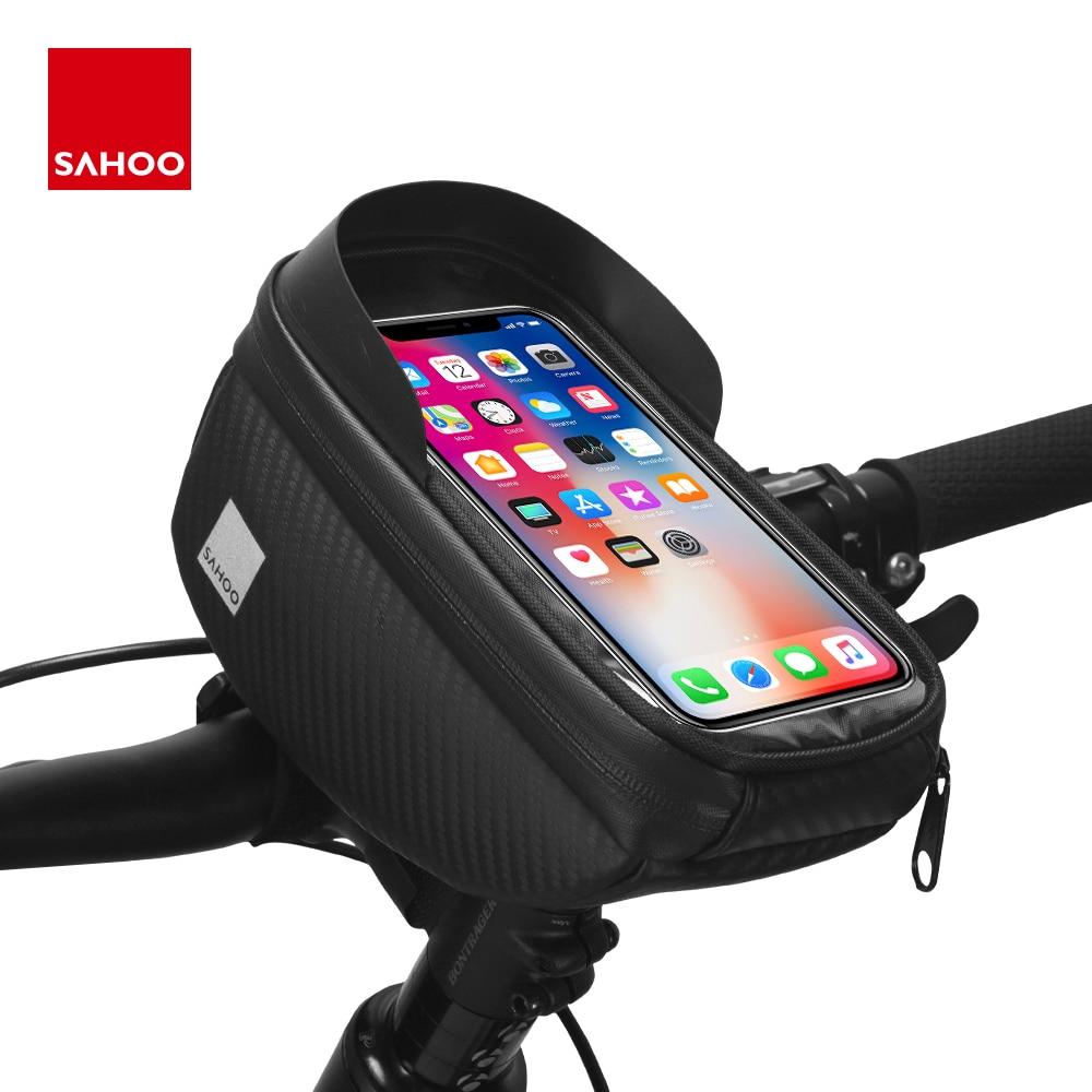 Sahoo 112003-wxy Water-resistant Touchscreen Cycling Bicycle Head Tube Handlebar 6.5