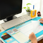 Kawaii Large PVC waterproof Desk pad Multi-function desktop organizer stationery holder mouse pad writing pad office supplies