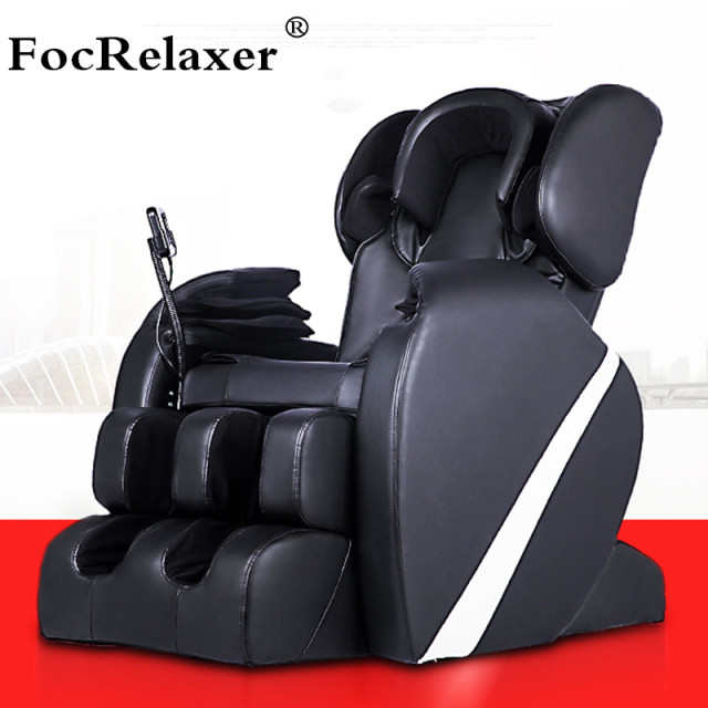 Electric Full Body Shiatsu Massage Chair Foot Roller Zero Gravity W/Heat  Massage Recliner