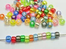 500 Разноцветные серебряные бусины с отверстиями из фольги в