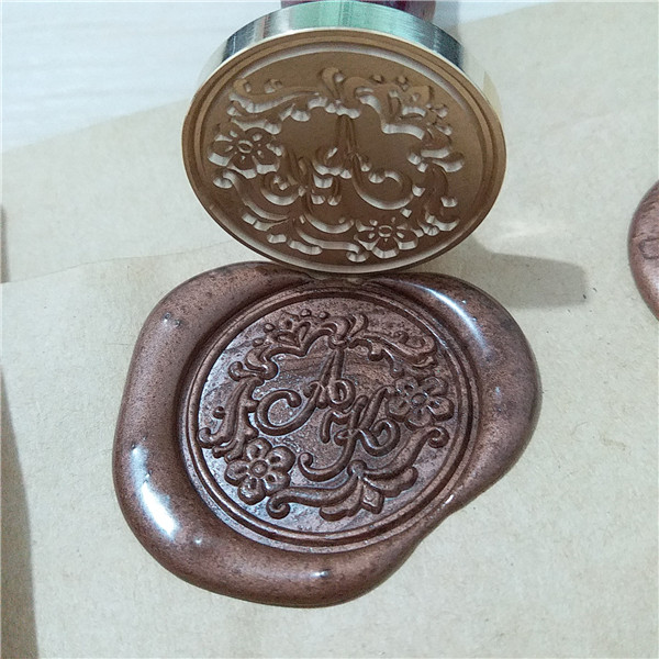 Aliexpress Buy Custom Double Letter Two Initials With Flowers Around Monogram Wax Seal Stamp Personalized Wedding Cute Stationery