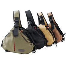 лучшая цена For Caden Waterproof Travel Small DSLR Shoulder Camera Bag  Triangle Sling Bag for Sony Nikon Canon Digital Camera