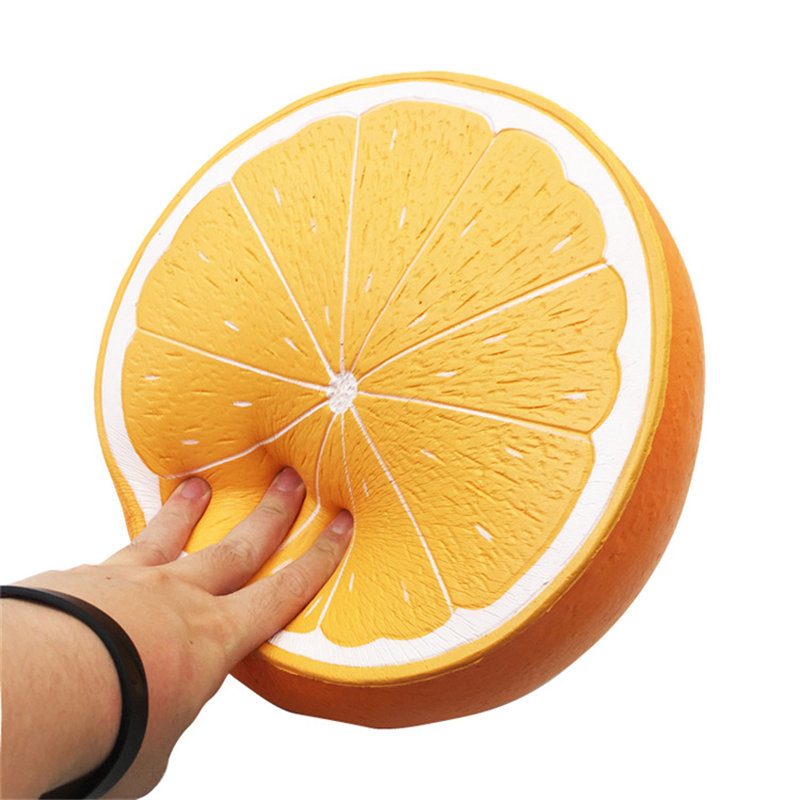 Nouveau extra Énorme Visqueux Orange Anti-Stress PU jouets Parfumée Presser Lente Hausse Amusant Jouet Anti-Stress Cadeau Soins Squeeze jouets