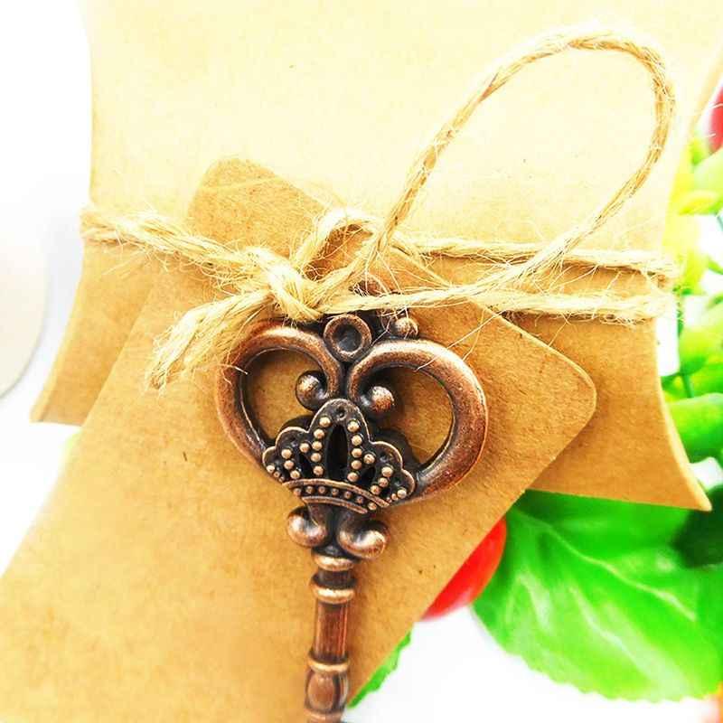 1 ชุดคีย์บอร์ดวินเทจเปิดขวดจี้กระดาษ Candy งานแต่งงานของที่ระลึกโปรดปรานงานรื่นเริง Supply