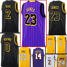 44d56ac01 New city 23 LeBron James JERSEY 2 Lonzo Ball 0 Kyle Kuzma 14 Brandon Ingram 24  Kobe Bryant JERSEYS