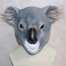 Deluxe Quality 3D Halloween Custom Fancy Animal Latex Koala Mask for animated film
