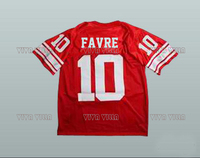 Brett Favre 10 Hancock Hawks Jersey Stitched High School Football Jersey Red S 4XL Free Shipping
