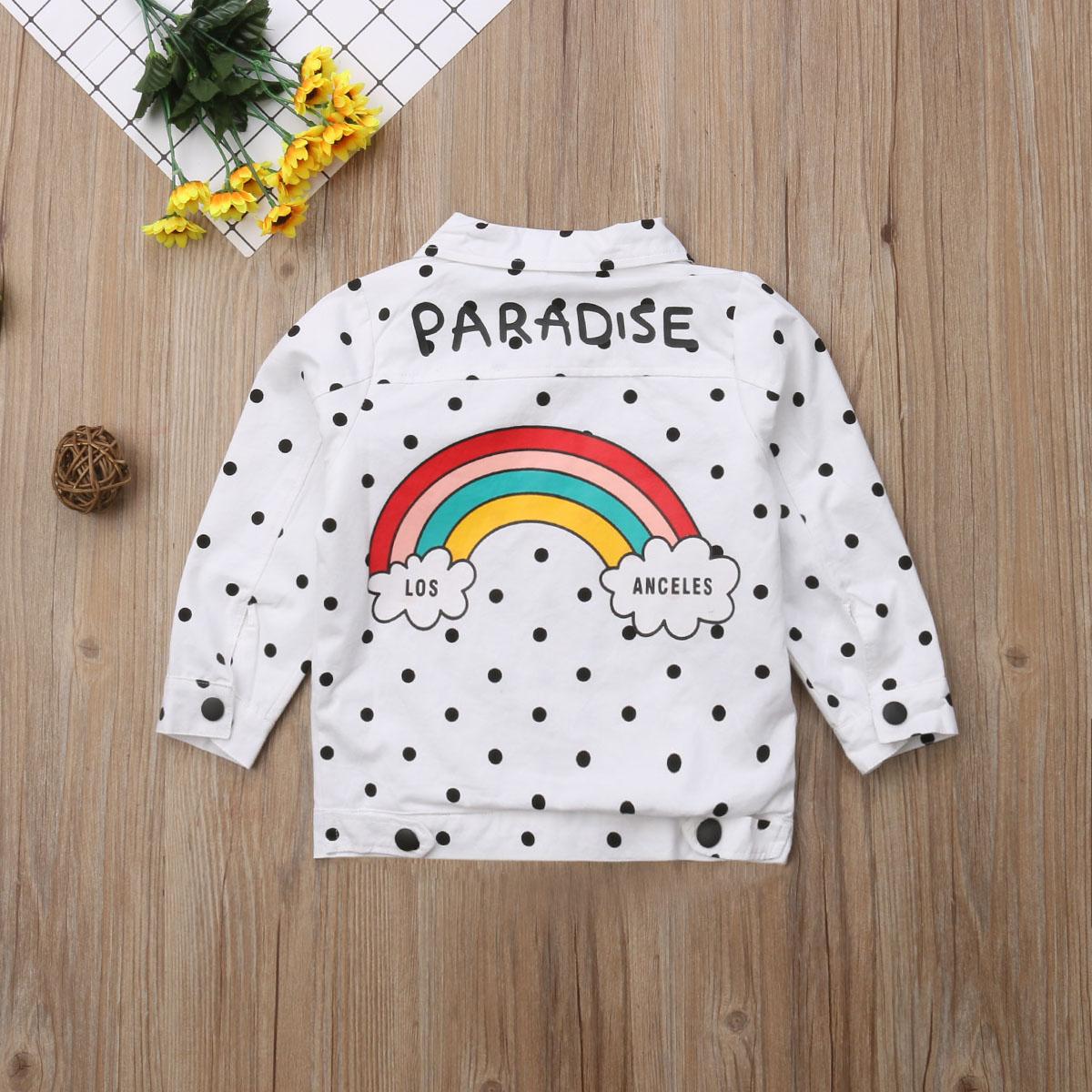 Toddler Kids Baby Girl Boy Long Sleeve Tassel Rainbow Sweatshirt Casual Shirt Pullover Tops