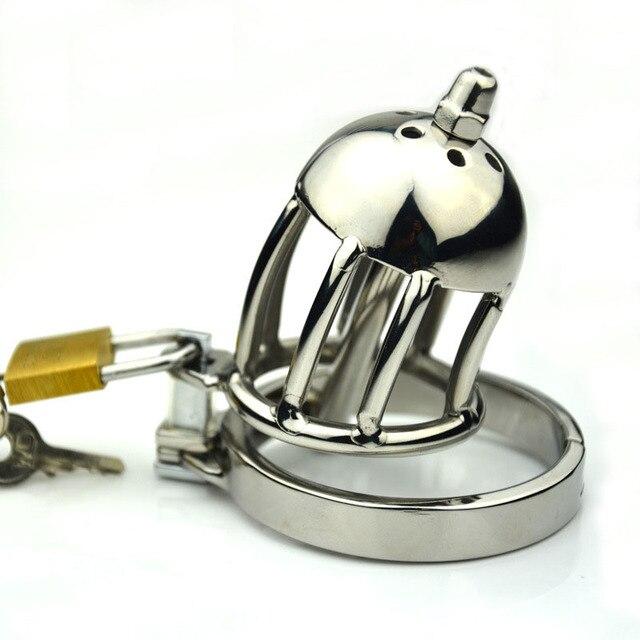 Высокое качество 304 из нержавеющей стали красоты мужской целомудрие устройство с уретральный катетер зажигания пениса связывание замок петух клетки для мужчин