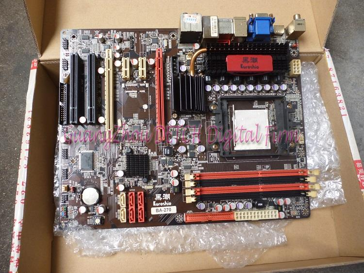 ASUS Kuroshio BA-270 supports DDR2 AM3 motherboard integrated large plate 790 asus ms g31mel support ddr2 775 pin integrated small plate g31 motherboard