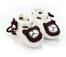 1Pair Cute soft baby boys girls cartoon bear handwork knit string toddler shoes children s crib