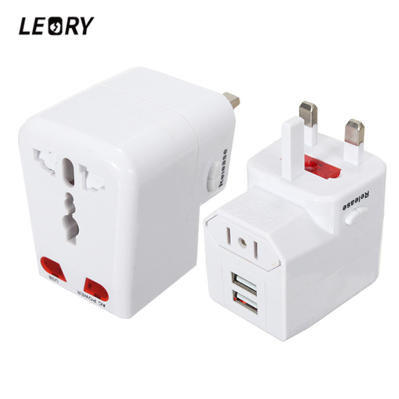 LEORY To US/UK/AU/EU World Travel AC Power Adapter Plug Socket Converter Wall Charger All-in-one Charging For Phone Tablet