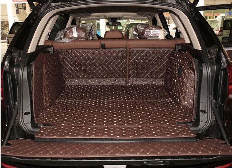 Bon tapis! ensemble complet ca tronc tapis pour BMW X5 F15 2017-2013 5 sièges durable démarrage tapis cargo liner pour X5 2015, Livraison gratuite