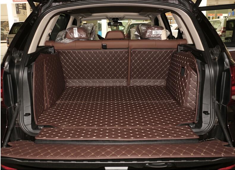 Buona tappeti! set completo ca mats bagagliaio di un'auto per BMW X5 F15 2017-2013 5 seats durevole boot tappeti cargo liner per X5 2015, Trasporto libero