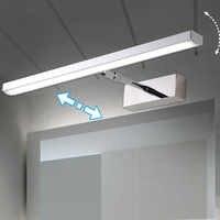 Espejo de luz LED 6W 8W 40cm 56cm inoxidable + acrílico decoración moderna iluminación lámpara de baño dormitorio vestíbulo estudio Sconce cálido/blanco