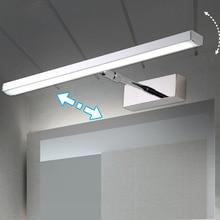 LED Mirror light 6W 8W 40cm 56cm Stainless+Acrylic  Modern Decor Lighting Bathroom Lamp Bedroom Foyer Study Sconce warm/white