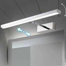 LED miroir lumière 6W 8W 40cm 56cm inoxydable + acrylique moderne décor éclairage salle de bain lampe chambre Foyer étude applique chaud/blanc