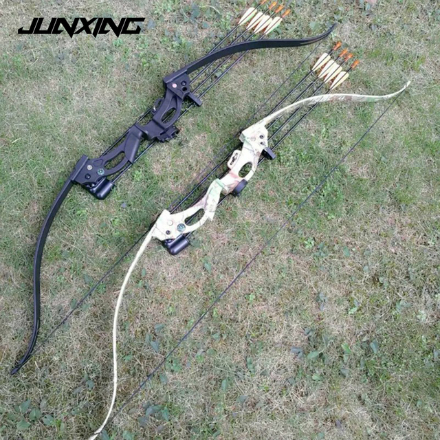 """Two Color 48"""" Recurve Bow with 20lbs Draw Weight 28"""" Draw Length for Women and Children  Archery Practice"""