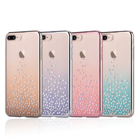 100 Original Comma Unique Polka 360 Swarovski Element Ultra Thin Protective Case For IPhone 7 7